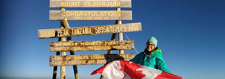 Robin Green sur le Mont Kilimangaro