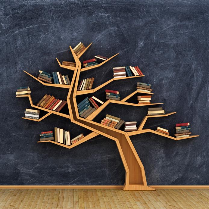 Étagère en forme d'arbre