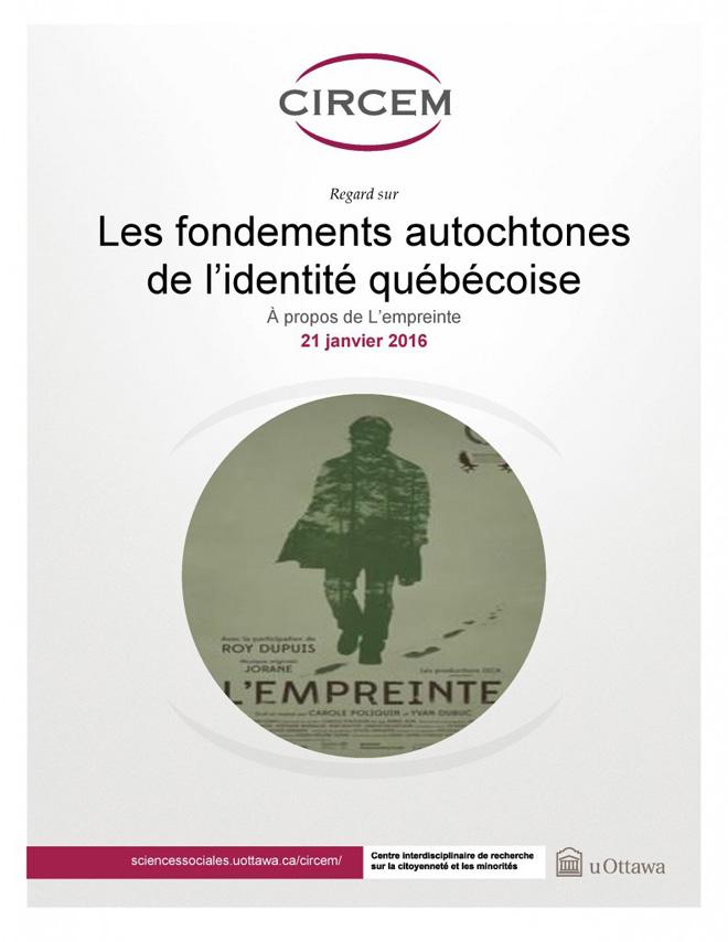 page couverture: Les fondements autochtones de l'identité québécoise de Brieg Capitaine