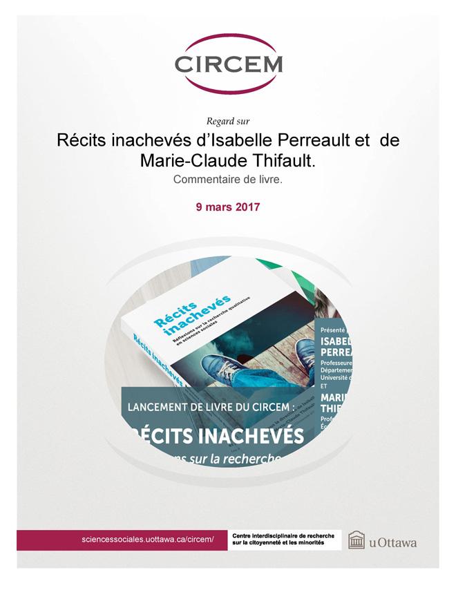 page couverture: Commentaire sur le livre « Récits inachevés » d'Isabelle Perreault et de Marie-Claude Thifault