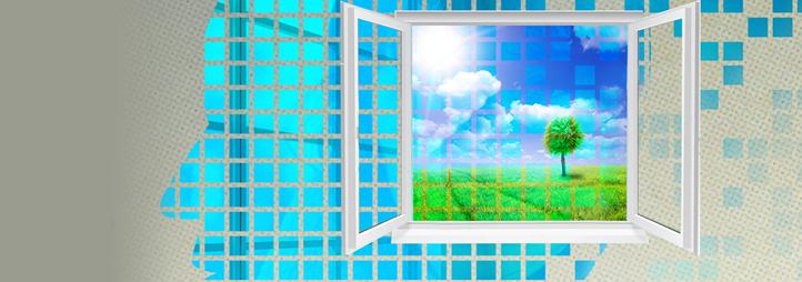 homme de profil et une fenêtre
