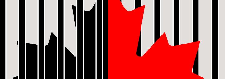 drapeau du Canada derrière les barreaux