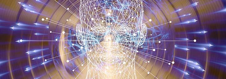 Une tête devant des lumières