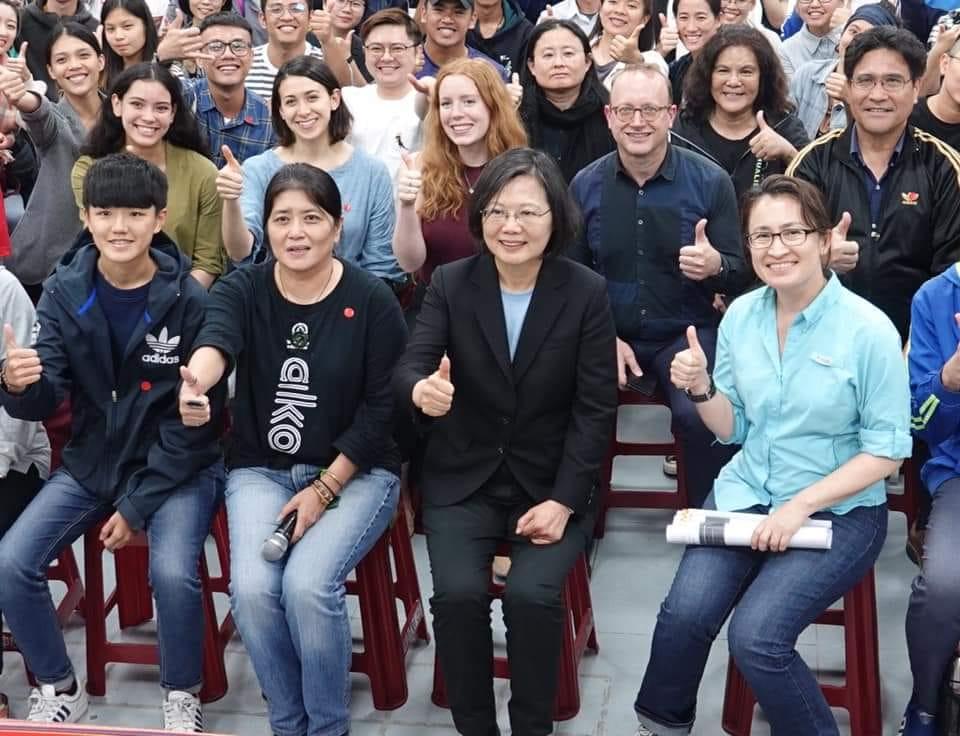 Photo de la présidente de l'Université nationale Donghwa