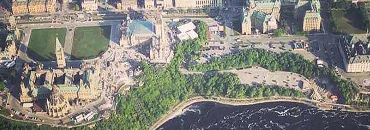 vue d'Ottawa par en haut