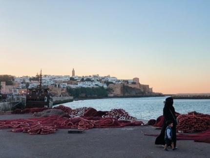 Photo du port de mer à Rabbar au Maroc