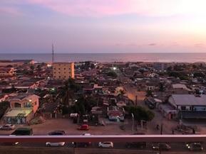 Vur sur la ville d'Accra au Ghana