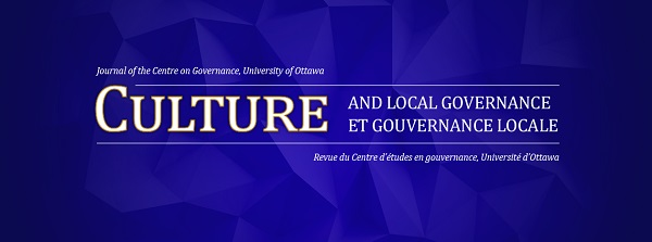 Culture and Local Governance, Journal of the Centre on Governance