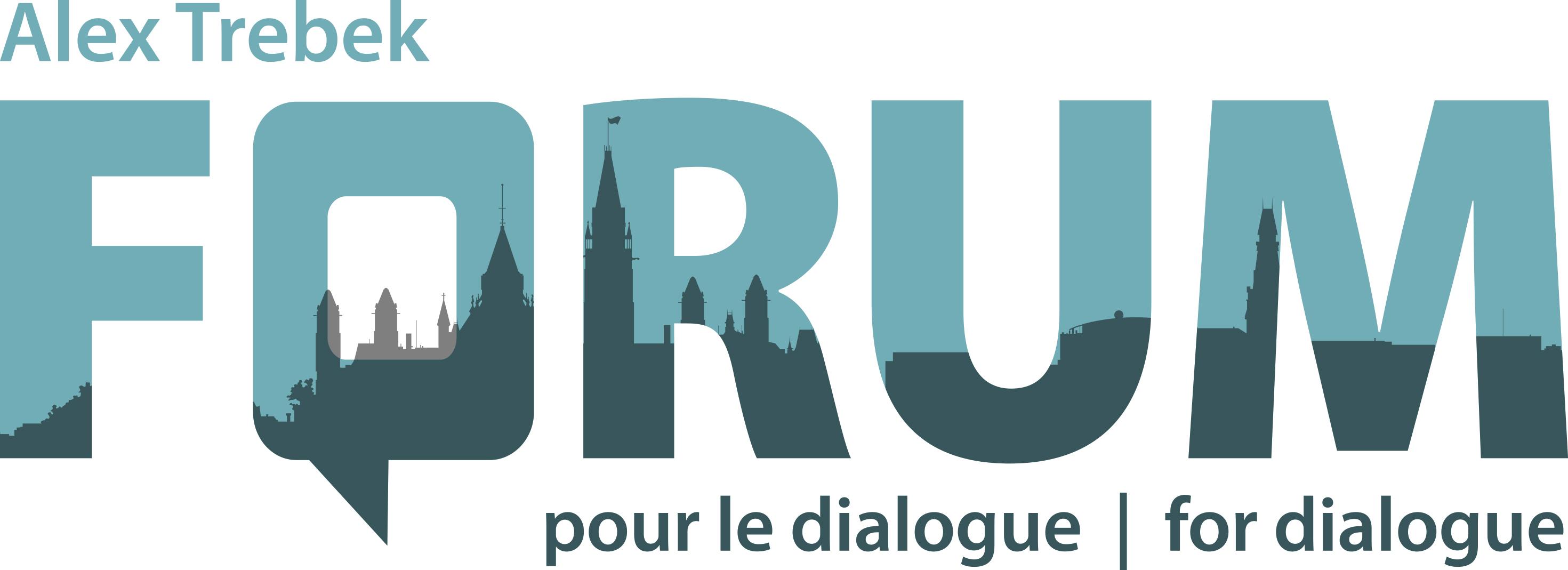 Alex Trebek Forum for Dialogue Logo