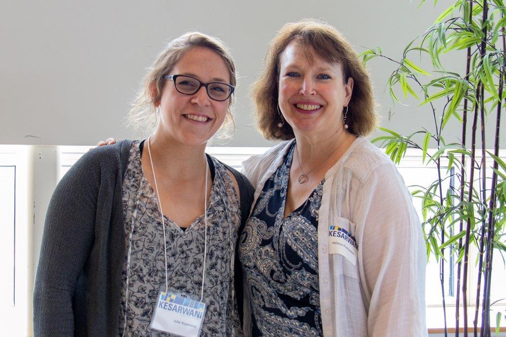 Julie Raymond et Hélène Plamondon