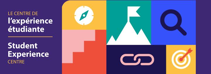 nom du centre avec une variété d'icones
