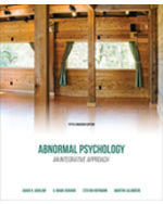 couverture du livre : Abnormal Psychology: An Integrative Approach, 5th Edition