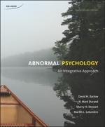 couverture du livre : Abnormal Psychology: An Integrative Approach, 4th Edition