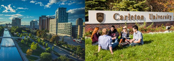 Édifices du campus uOttawa et Université Carleton