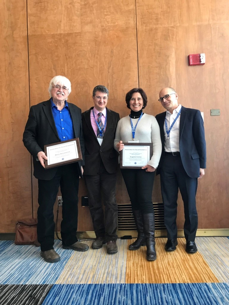 Mario Seccareccia, Wolfram Elster, Eugenia Correa (UNAM), Association for Social Economics president