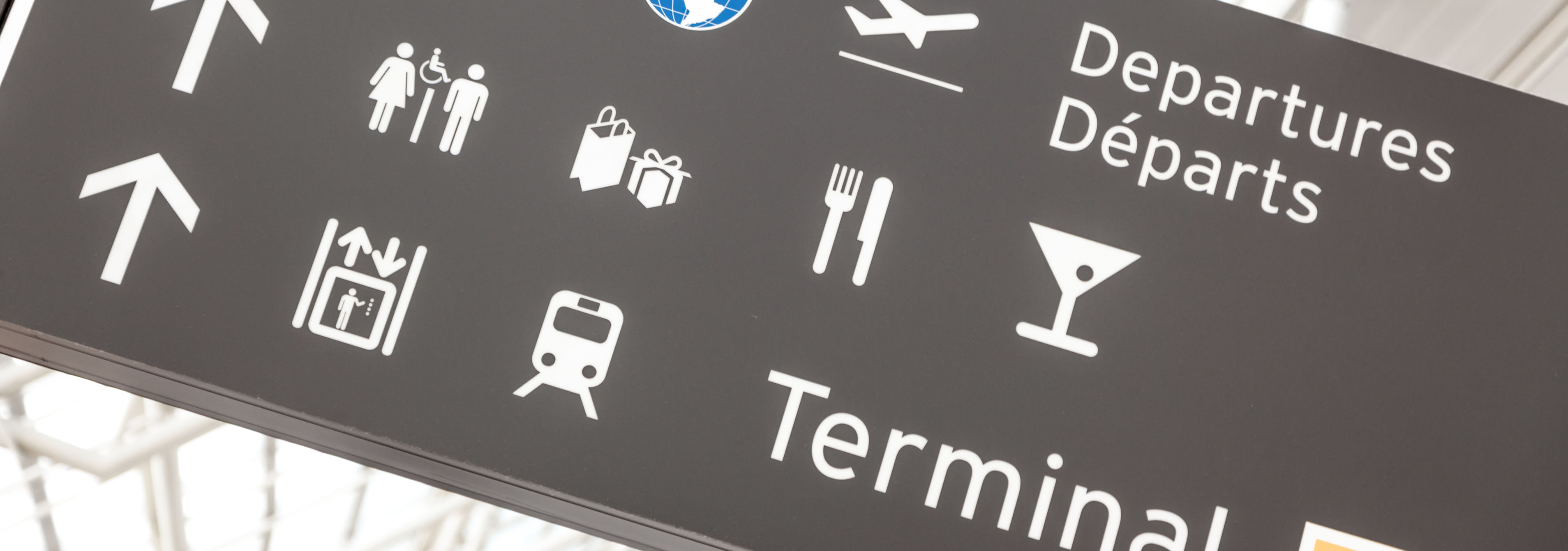 affichage dand l'aéroport
