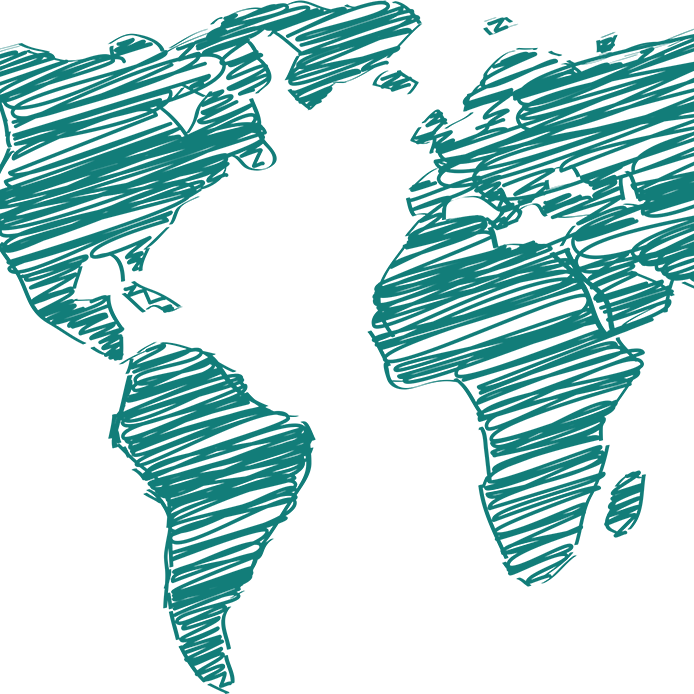Carte du globe