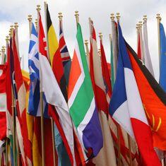 Regroupement de drapeaux nationaux