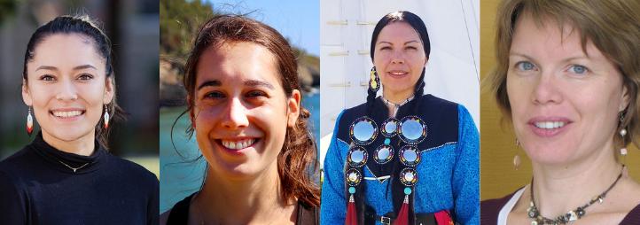 Portrait de 4 femmes autochtones