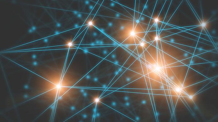 points lumineux et connecteurs
