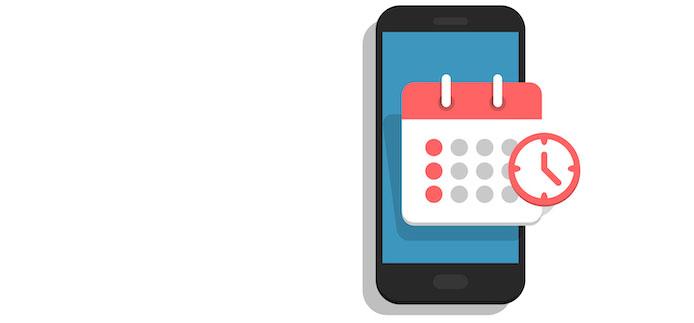 téléphone portable et calendrier