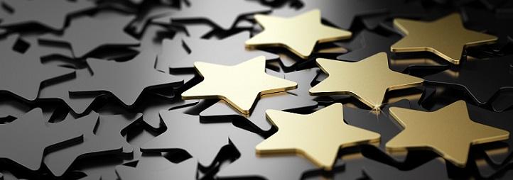 étoiles en or