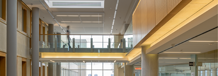 Vue intérieure du Pavillon des sciences sociales, Université d'Ottawa