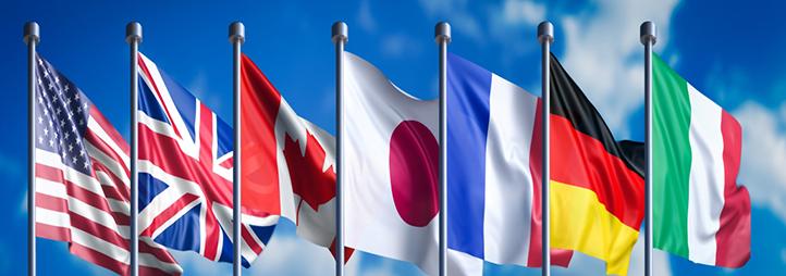 drapeaux du G7