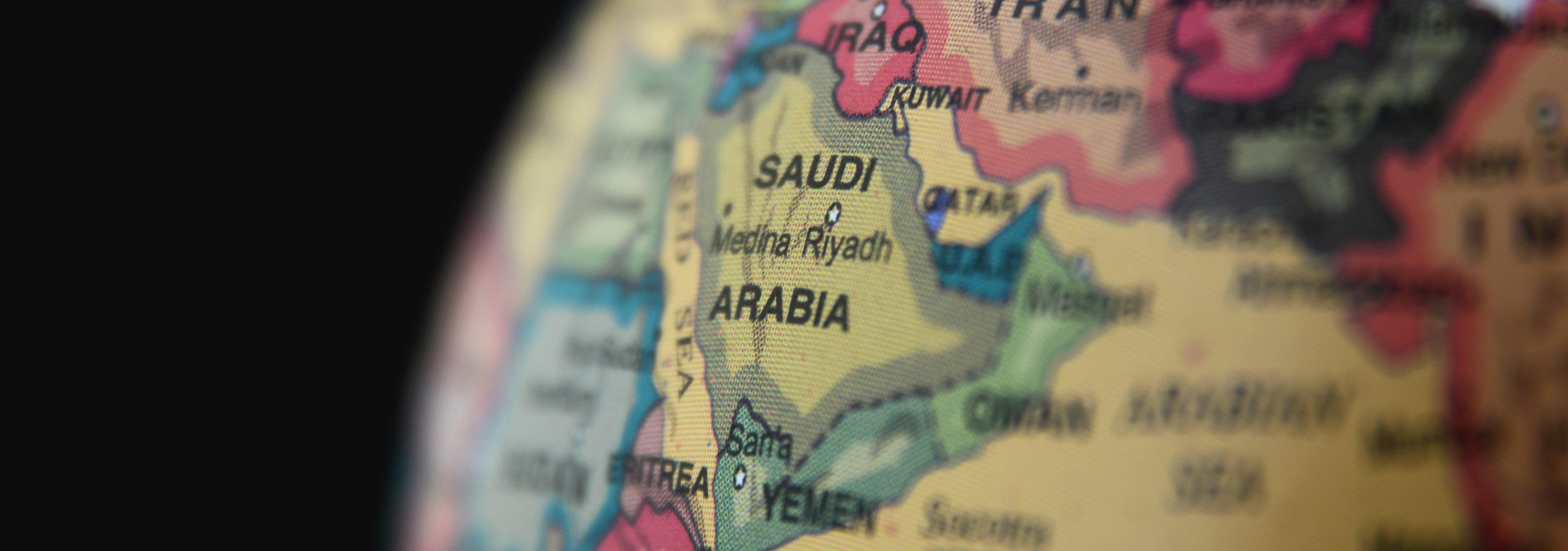 globe mettant en valeur Saudi Arabia