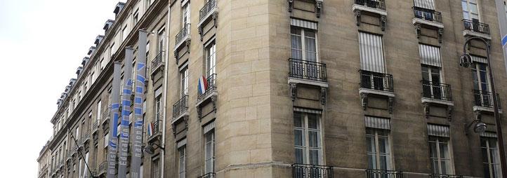 Vue extérieure du bâtiment du Ministère de l'éducation nationale, Paris