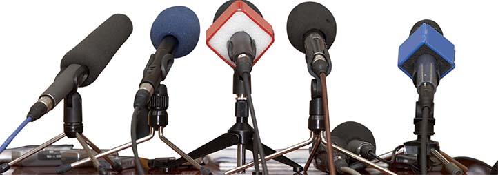 ligne de microphones