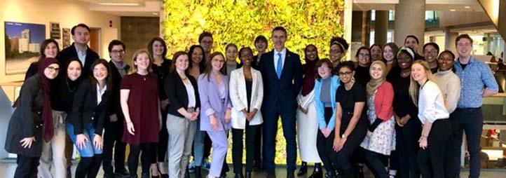 Students with his excellency Johan VERKAMMEN, Ambassador Embassy of Belgium Ottawa