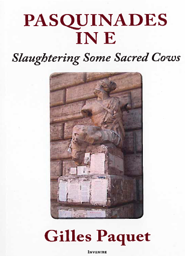 couverture du livre : Pasquinades in E:Slaughtering Some Sacred Cows