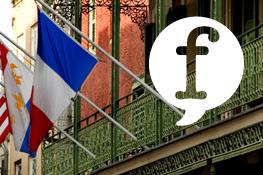 Drapeau acadien et française