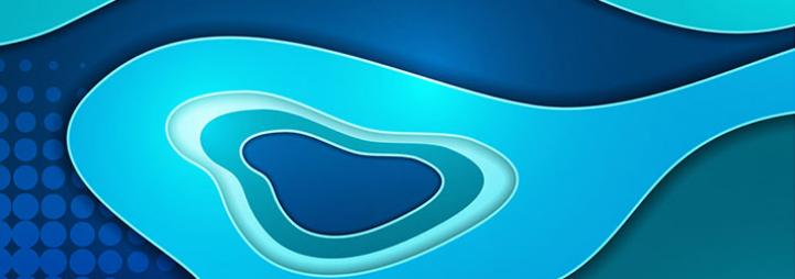 peinture abstraite en nuance de bleus