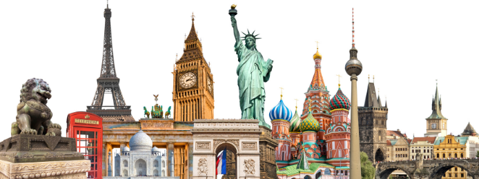 Monuments célèbres à travers le monde