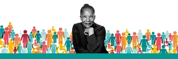 Affiche de la conférence de Christiane Taubira